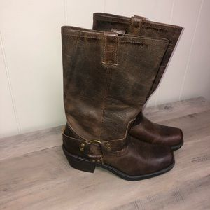 Cabelas tall leather dress boots size 7 1/2